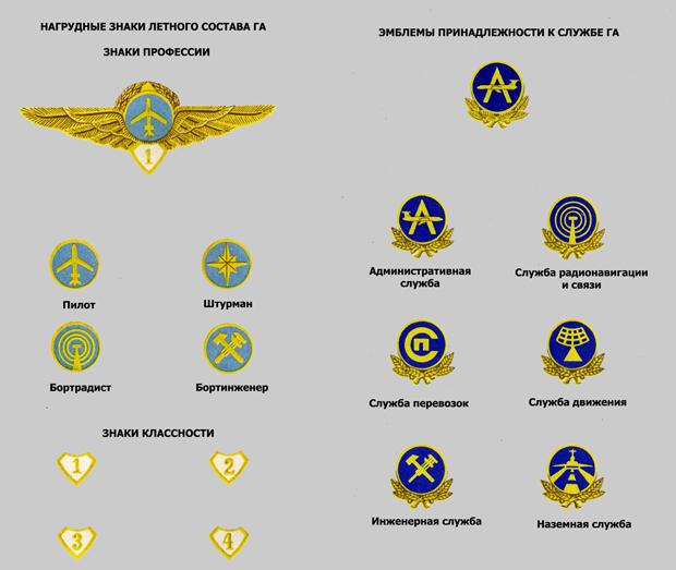 звания гражданских пилотов