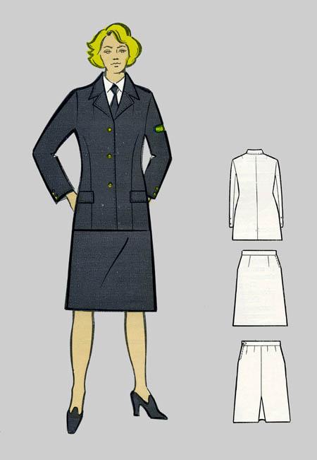 описание прямой юбки с двумя вытачками: